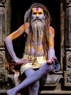 Shivaratri in Nepal: festival of Shiva with sadhus, crowds & hashish. Hinduism.