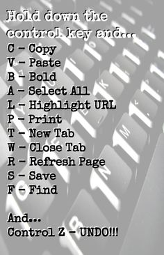 Keyboard shortcuts for the computer 💻 For Windows, Chrome, Firefox. Check Alice's site for Mac keyboard shortcuts. School Life Hacks, School Study Tips, School Tips, School Ideas, Simple Life Hacks, Useful Life Hacks, Writing Skills, Writing Tips, Typing Skills