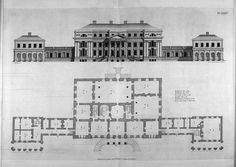 Plan Piano Nobile Chiswick House Middlesex England