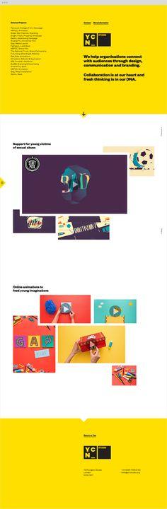 New portfolio site for YCN Studio.