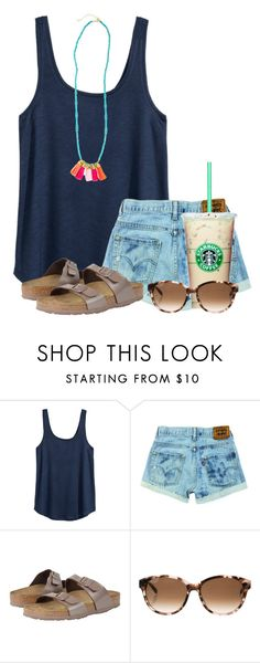 """""""So bored, comment activities that I could do☀️"""" by flroasburn ❤ liked on Polyvore featuring H&M, Birkenstock and Kate Spade"""