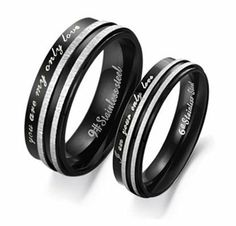 "Stainless Steel ""You Are My Only Love"" Engraved Couple Rings Set for Engagement, Promise, Eternity R017 (His Size 7,8,9,10; Hers Size 5,6,7,8). Please Email Sizes Eeva' jewelry. $15.99. ""You Are My Only Love"". Stainless Steel. Various Sizes Available"