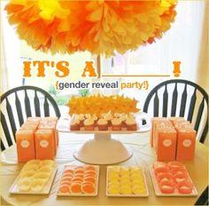 cute gender reveal party idea by jan