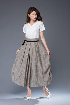 faldas grises maxi faldas de las mujeres faldas por YL1dress