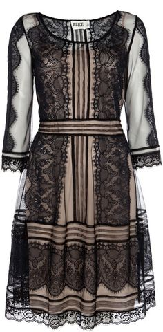 ALICE BY TEMPERLEY LONDON Lottie Dress Black Lace