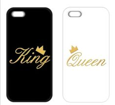 King and Queen Couple Cover Case for iPhone 4 4S 5 5S 5C 6 7 6S Plus Samsung S3 S4 S5 Mini S6 S7 Edge Plus A3 A5 A7