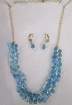Blue Topaz Necklace and Earrings, by Mel Koven, 14k Gold,  $895,   @ weemsgallery.com