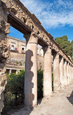 *HERCULANEUM, ITALY ~ Ruins at the ghost city of Herculaneum in Italy, buried in the eruption of the volcano Vesuvius