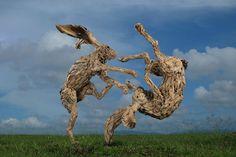 "lustik: ""Driftwood sculptures by James Doran Webb. Lustik: twitter | pinterest | etsy """