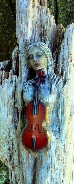 Could be a Dryad from by ShapingSpirit Driftwood Spirit Sculptures by Debra Bernier Driftwood Sculpture, Driftwood Art, Art Vintage, Land Art, Art Design, Art Plastique, Tree Art, Amazing Art, Art Dolls