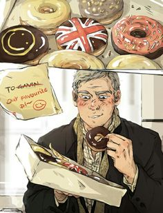 Sherlock: Lestrade and England Donuts