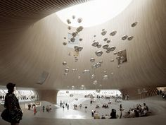 The search for a design for Helsinki's new Guggenheim Museum is well under way. Architecture Visualization, Architecture Drawings, Futuristic Architecture, Interior Architecture, Chinese Architecture, Helsinki, Le Corbusier Marseille, Grand Hall, Atrium Design