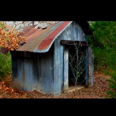 Old shed-on a hiking trail near Lake Murry in Oklahoma