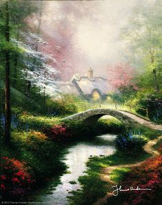 Thomas Kinkade - Brookside Hideaway  1994