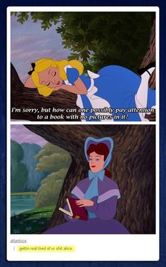 this is my favourite movie, i love it so much, every time I'm sad, anything from alice and wonderland, the old Disney movie cheers me up
