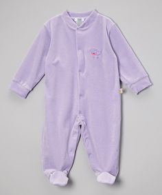 Love this Lavender Mia Poodle Velour Footie - Infant by Noa Lily on #zulily! #zulilyfinds