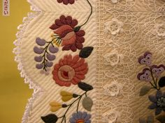 Queenie's Needlework. Beautiful quilt but wish I could see the entire quilt.
