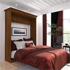 Queen Wall Bed in Tuscany Brown Finish ** Find out more about the great product at the image link.