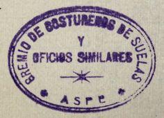 Figura 25. (Página 119).- Sello del Gremio de Costureros de Suelos y Oficios Similares. Archivo Municipal de Aspe.