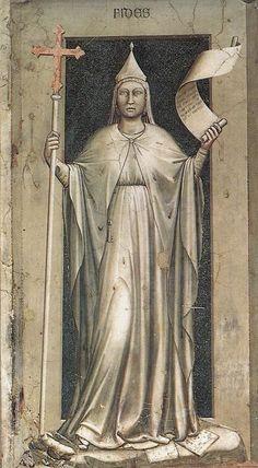 Faith, The Seven Virtues, 1306, Cappella Scrovegni, Padua, Giotto di Bondone (1267-1337)