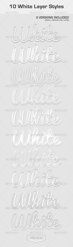 White Text Effects