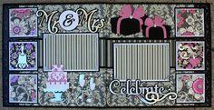 Faith Abigail Designs - Complete Wedding Album Series: Celebrate Double Scrapbook Layout