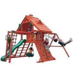 Gorilla Playsets Sun Palace II Cedar Play Set-01-0013 at The Home Depot
