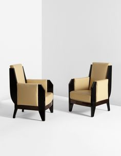 PHILLIPS : 12500, André Sornay, Pair of armchairs, 1930s