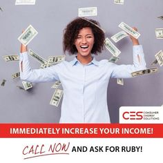 Consumer Energy Solutions Inc is HIRING!  Join us as an Appointment Setter you can make $30-$50K per year!  No experience needed! We offer full training and have THE best training program in the industry!  Call 727-748-1700 and ask for Ruby!  #CES #Hiring #Money #jobs