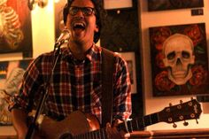 Luke Sital-Singh performing at Pull The Plug Great a Escape show