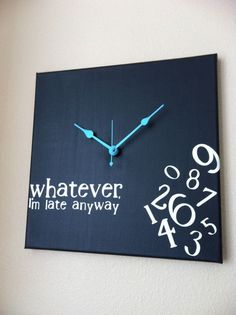 Lol - I have some friends who need this clock!