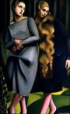 Art Deco style painting by Tamara de Lempicka.