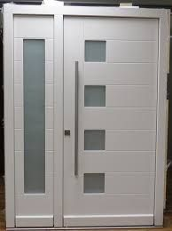Contemporary door with frosted glass - Liberty Windoors - designimage blogspot - see on houzz