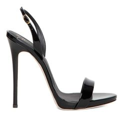 GIUSEPPE ZANOTTI DESIGN 'Coline' leather sandals ($505) ❤ liked on Polyvore featuring shoes, sandals, giuseppe zanotti, leather shoes, genuine leather shoes, leather footwear and leather sandals