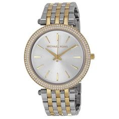 MICHAEL KORS Darci Silver Dial Two-tone Ladies Watch MK3215 $250.00 @ http://thesuperstyle.com $250.00 Brand MICHAEL KORS  Model mk-MK3215  Gender Female  Movement Quartz  CaseDiameter 39  Case Thickness 7  Case Color SILVER  Case Shape ROUND  Case BackMaterial STAINLESS STEEL  Bezel Color GOLD TONE  Band Type DEPLOYMENT  Band Material Stainless Steel  Band Width 13  Clasp DEPLOYMENT  Water Resistance 50  Calendar false  WARRANTY Manufacturer  UPC 796483027855  #art #giftideas #2017…