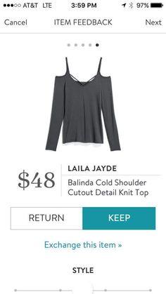 Stitch fix stylist note: please send me this top!