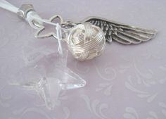 Bettelkette Silbermond und Kristallstern