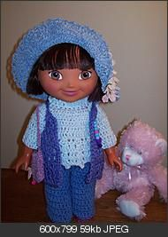"""#Dora #is #My #Darling– #15"""" #doll #Outfit #FREE from #Crochetville"""