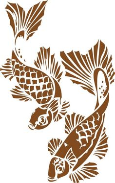 Wall decals - koi - do they come in green or blue