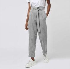 Grey Stripes, Parachute Pants, Harem Pants, Model, Fashion, Moda, Gray Stripes, Harem Trousers