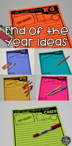 End of the year letters to next year's students printables! Love the format for 2nd - 6th grade! This is a perfect end of the year activity! Print and go!