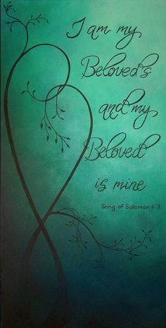 Turquoise green master bedroom decor, Song of Solomon I am my Beloveds, Romantic…