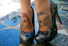 foot tattoo love this idea