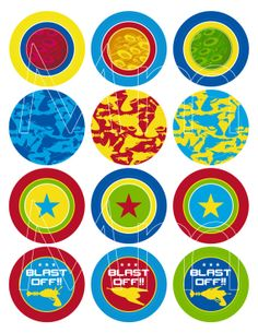 Science Fiction Outer Space Themed Cupcake Toppers by markmurphycreative, £2.45