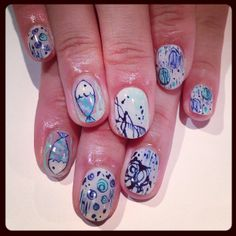 Fish  drawing art nails  #avarice #art #kayo #design #nails #nailart #nailsalon #fish #drawing (NailSalon AVARICE)