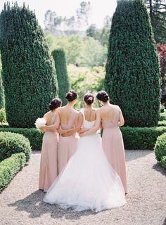Pink Bridesmaid Gowns, Bridesmaid Tips, Bridesmaid Flowers, Wedding Dresses, Bridesmaids, Mod Wedding, Wedding Bells, Dream Wedding, Wedding Champagne