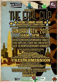 The Errl Cup #Cannabis Awards & Festival Jan 9th More info on AZ Everything