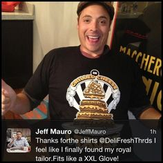 Love that the Sandwich King, Jeff Mauro   approves of the brand!