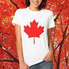Kanada T-Shirt - Rot Kanada Ahorn-Flagge ist ein großes T-Stück für diejenigen, die Liebe Kanada. Groß für patriotische Kanadier, kanadische Sportfans , den 1. Juli - Veranstaltungen Canada Day.