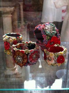 Contemporary crafts with inspiration from Swedish folklore, by Karin Ferner. Bracelets.   Smycken Karin Ferner Sweden